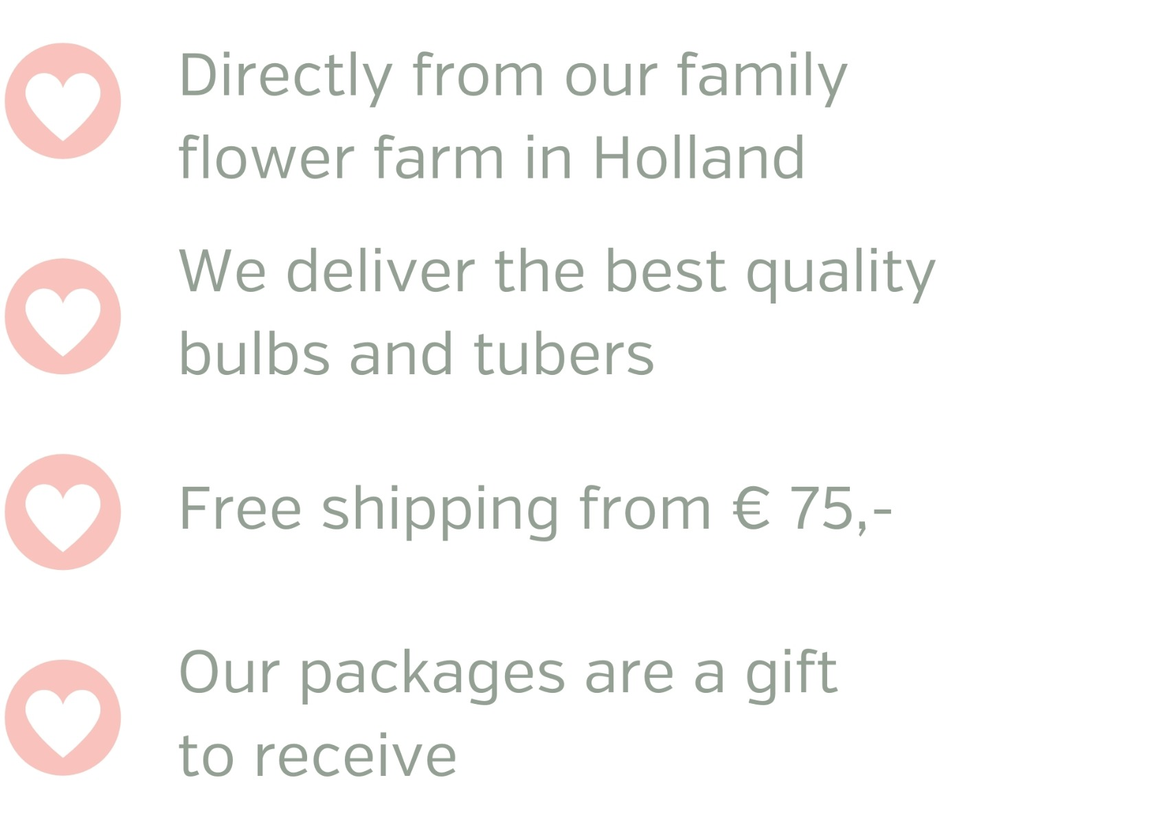 the best quality bulbs and tubers